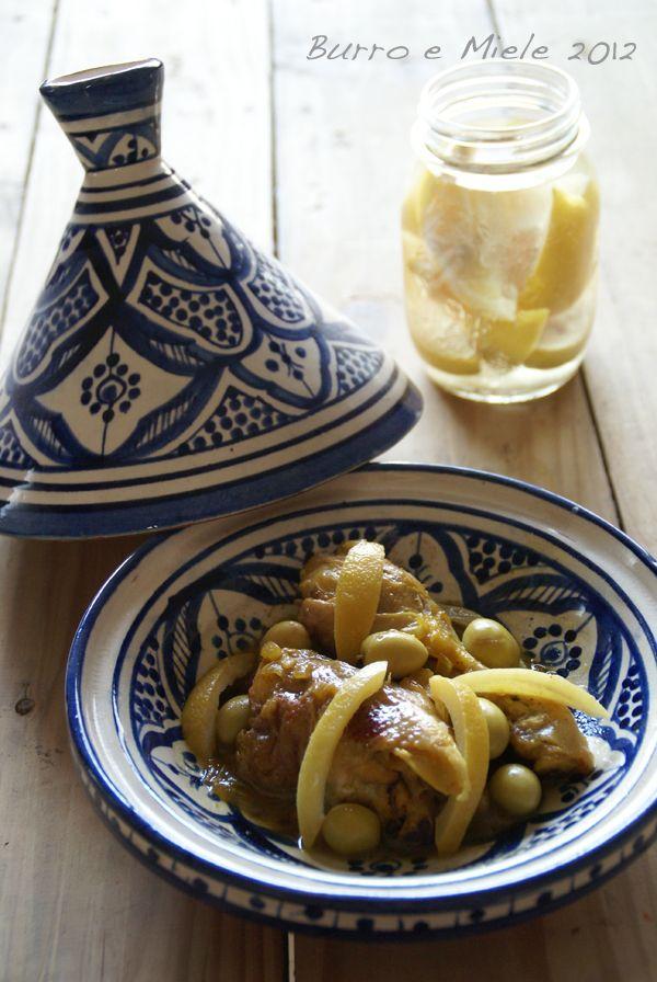Burro e Miele: Tajine di pollo con olive e limone confit fatto in casa...e vi racconto un anno in Marocco