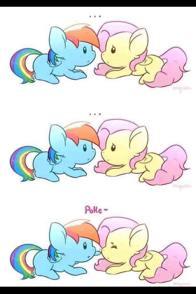 Mlp filly rainbow dash and fluttershy