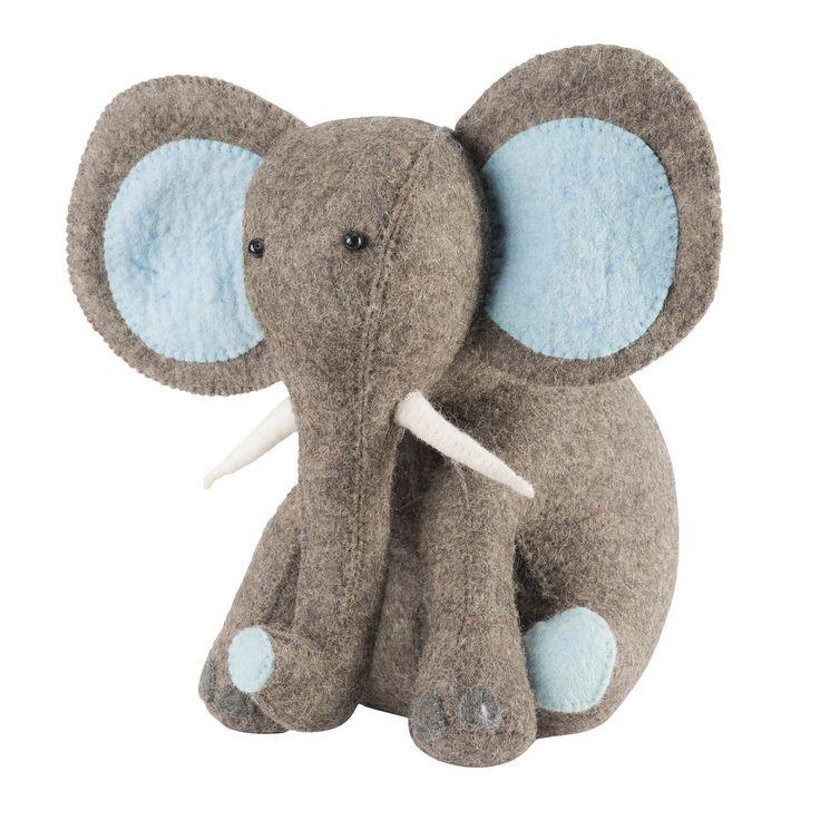 stylist and luxury decorative door stoppers. Arcadiahome  Blue Elephant Door Stop in Hand Felted Wool 98 00 http 28 best ELEPHANT DOOR STOP images on Pinterest Doorstop
