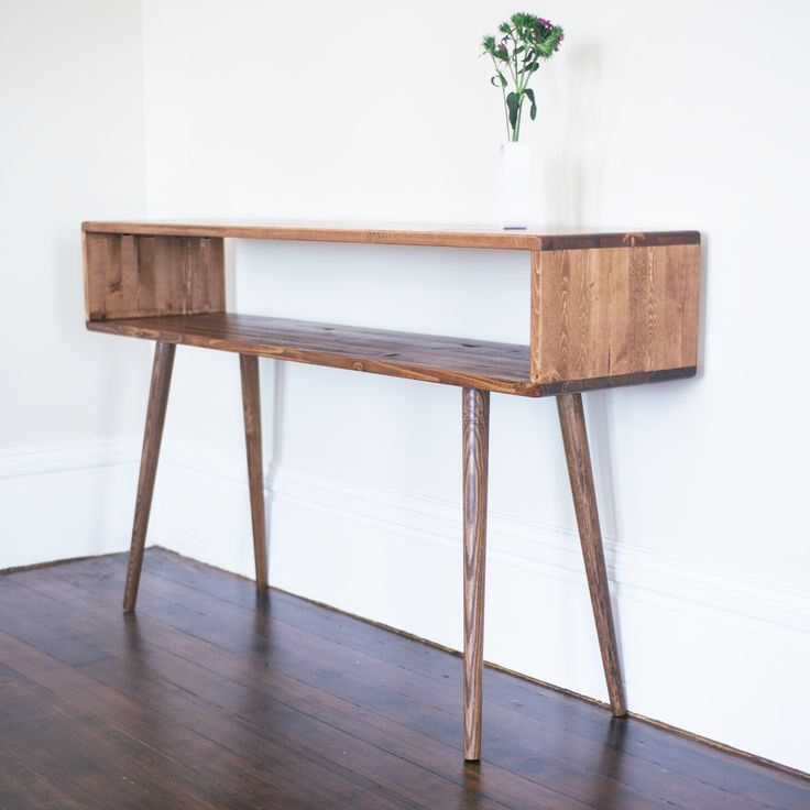 Mid Century Inspired Sofa Table / Entry Foyer Table by OrWaDesigns on Etsy https://www.etsy.com/listing/130804527/mid-century-inspired-sofa-table-entry