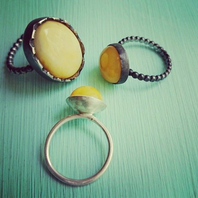 Some of my amber rings