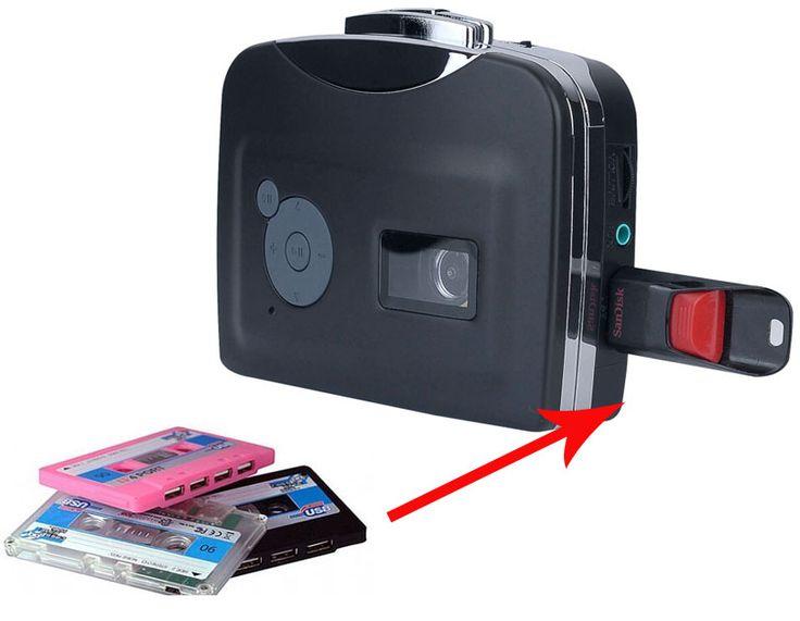 Original Genuine Ezcap230 DVD,Old Cassette Tape to MP3 Converter to USB Flash Drive U Disk,Audio Capture Walkman Music Player