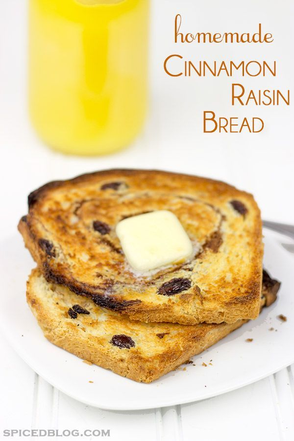 A toasted slice of this Homemade Cinnamon Raisin Bread with a hot cup of coffee is the perfect way to start your day!