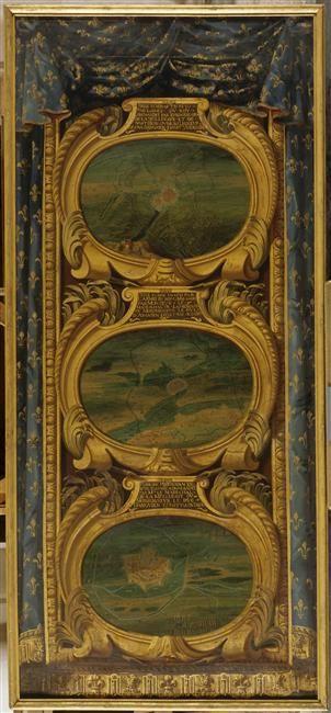Chantilly exposition Le Grand Condé, panneau conservé au Musée de Versailles: siège de Aire 1641. - 53) MARECHAL-DUCDE LA MEILLERAYE: Ce fut lui qui commandait l'armée et qui emporta la place. Aussi, dans un carton du cabinet des estampes de la bibliothèque du roi, se trouve un dessin en profil d'Aire, pris, y est-il dit, par le maréchal de La Meilleraye. Mais le cardinal-infant arriva bientôt avec des forces supérieures pour reprendre la place.