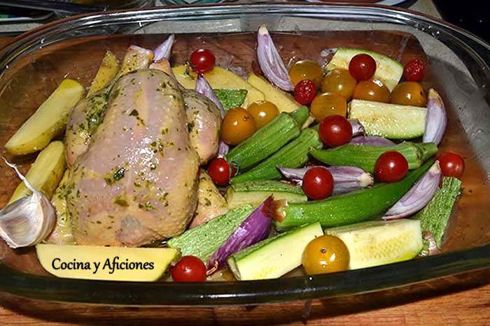 Pollito picanton verdulero, receta paso a paso. | Cocina y Aficiones