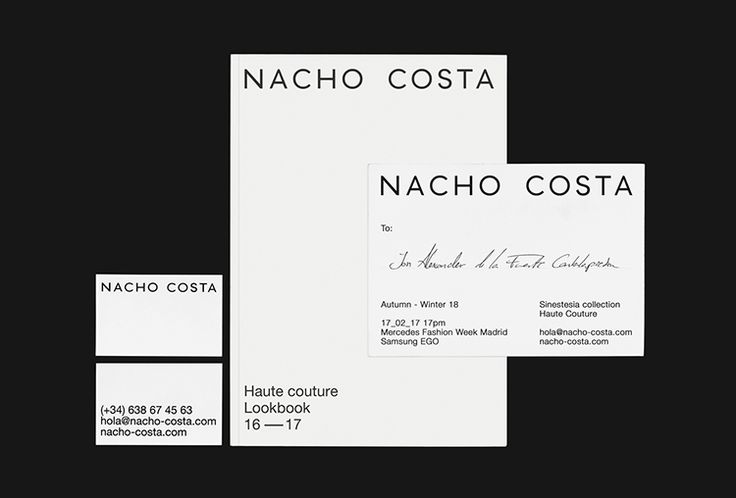 Picture of 5 designed by Fetén Studio for the project Nacho Costa. Published on the Visual Journal in date 12 January 2017