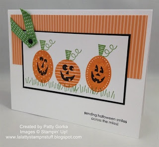 pumpkin smiles by lalatty cards and paper crafts at splitcoaststampers find this pin and more on halloween cards stampin up - Stampin Up Halloween Ideas
