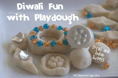 Make your Own Diyas and Sweet with Playdough for Diwali:  The Educators' Spin On It