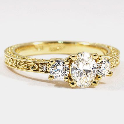 Your best engagement ring 3 stone diamond rings in yellow gold