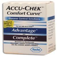 Accu-Chek Comfort Curve Control Solution by Accu Chek. $9.54. INDICATIONS:Accu-Chek Comfort Curve Glucose Control Solution Includes one Hi and one Low  For use with Accu chek Advantage and Accu chek Complete meters.