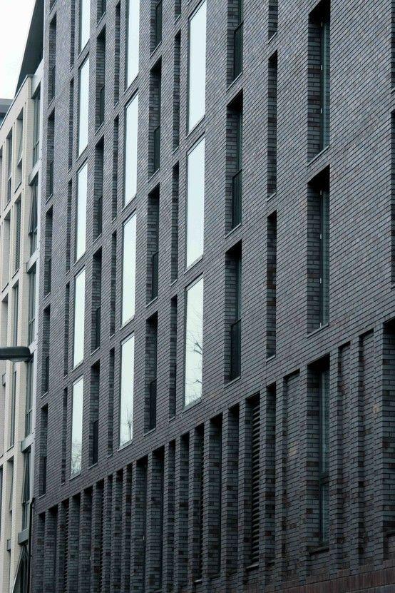 Waterloo H10 Hotel Maccreanor Lavington 2013 Photograph Credit Stephen Alderdice Architect.  Mass of Brick Expressed through depth of window reveal.
