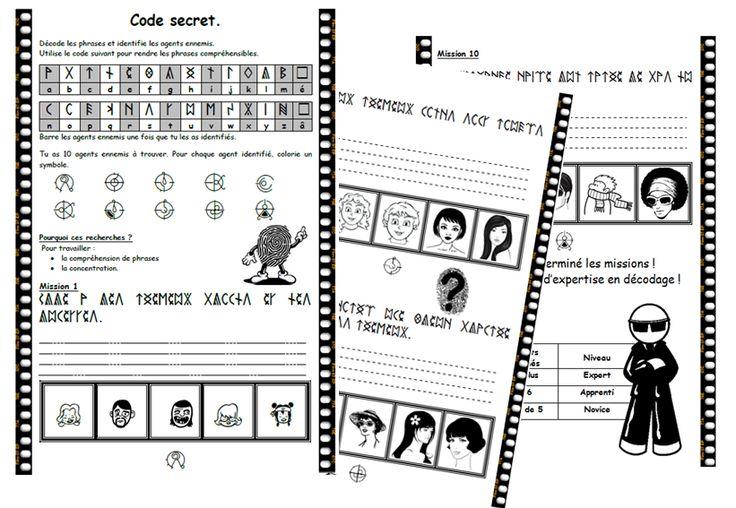 Code secret, lecture, comprehension, décodage, dixmois