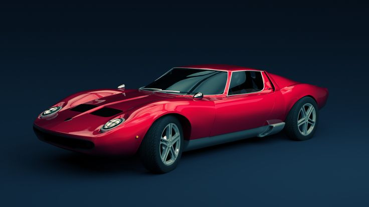 Lamborghini Miura. Modeled, textured and rendered in Blender.