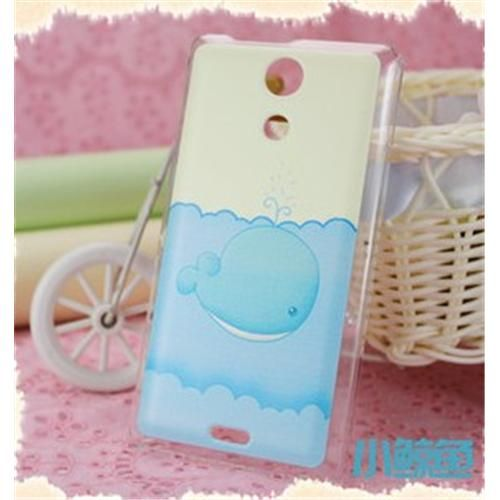 COSKIIZ Brightly Fine Little Whale PC Painted Series Hard Case For Sony Xperia ZR