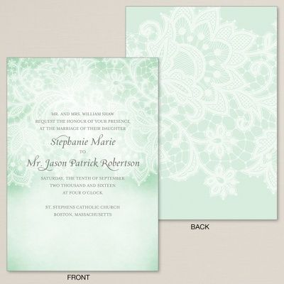 Exclusively Weddings | Aqua Lace