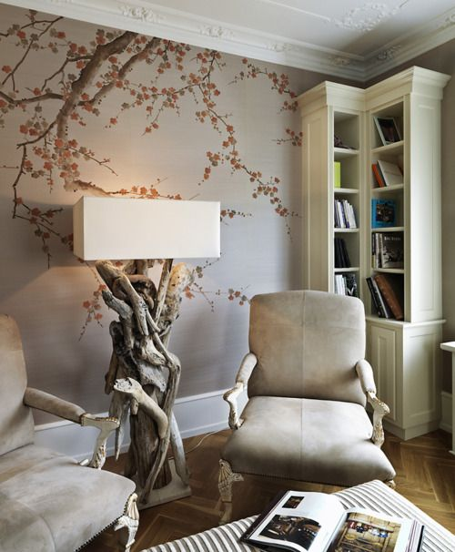 25 best ideas about cherry blossom wallpaper on pinterest for Cherry tree wall mural