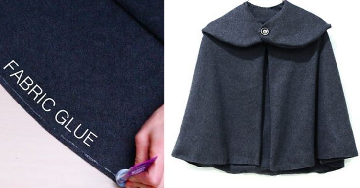 Watch the full tutorial here. | Make This Sewing-Optional Circle Cape To Stay Warm And Fab