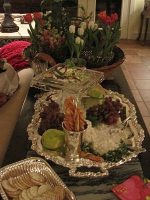 like her silver tray serving style
