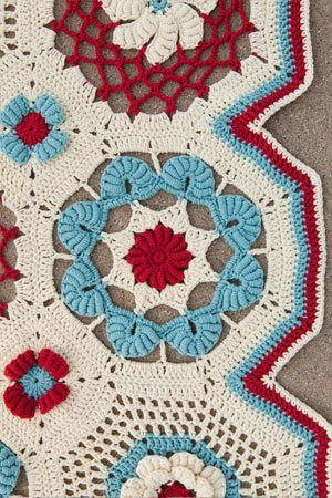 The motifs used for this crochet afghan are stunning!