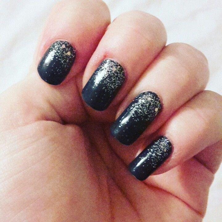 Purple glitter #nailie #nailart #nails