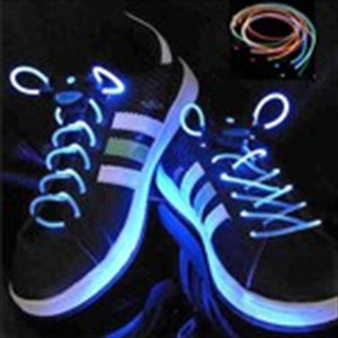 Pair of Stylish 3- Mode Flashing Colored LED Shoelaces