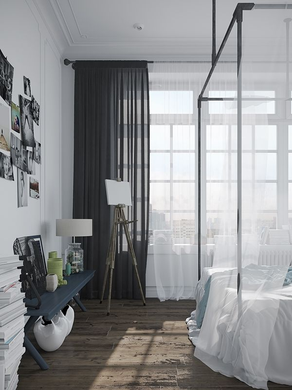Chic and trendy Scandinavian style apartment in Russia