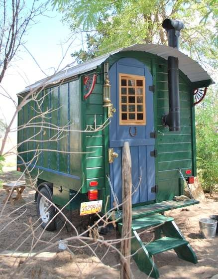 build your own gypsy wagon - click through and check out the inside!