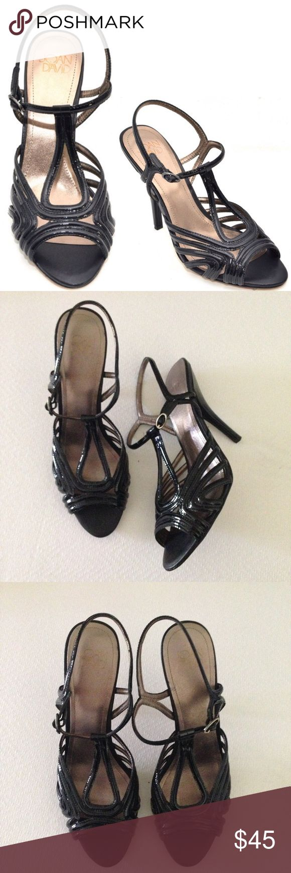"""Joan & David Black Strappy Heels Sandals - Damimo Joan & David Black Strappy Heels. Vintage Vibe, 4.5"""" Heel, Side Buckle Strapping, patent Leather, Damimo. Excellent Pre-Worn Condition. No Visible Stains, Fading or Minor Flaws please see pictures. Retail $240.00 #0204172612 ✨Please keep in mind that measurements are provided only as a guide and are approximate. Color appearance may vary depending on your monitor settings. Joan & David Shoes Heels"""