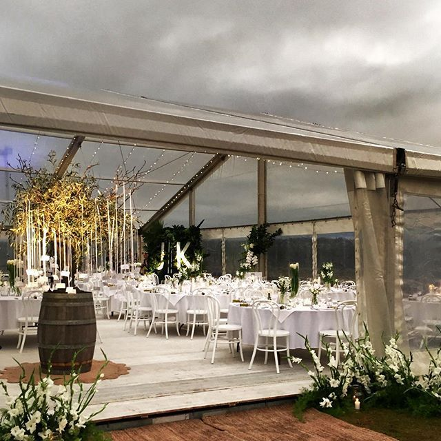 { E N T R A N C E } It's all in the detail! Always important to make an entrance! #haroldsfinishingtouches #toowoomba #wedding #style #styling #olivetree #marquee #storm #clouds #design #decorating