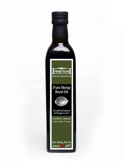 Certified Organic Canadian Hemp Seed Oil 500ml