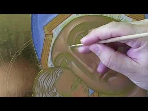 10.4 Dipingere l'icona della Madonna di Vladimir Fase 4: tratti vivi - YouTube