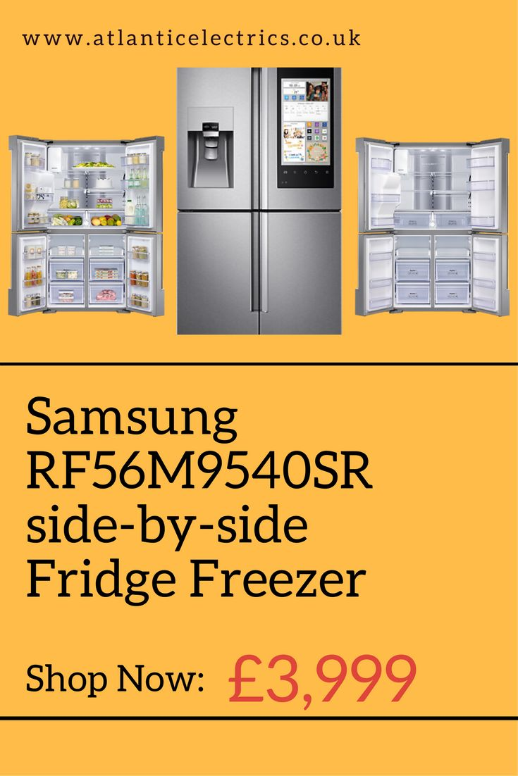 Samsung RF56M9540SR side-by-side Fridge Freezer - 90.8 cm - 550 litre #samsung #samsungelectronics #samsungappliances #sidebysiderefrigerator #atlanticelectrics