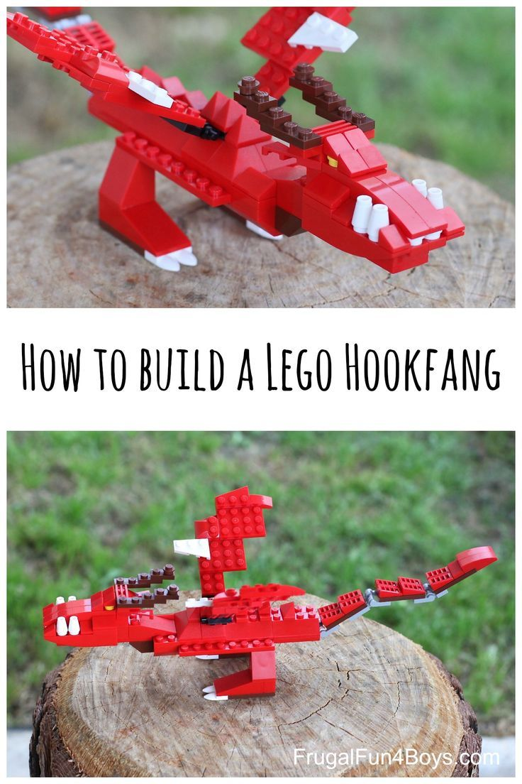 How to Build a LEGO Hookfang, inspired by How to Train Your Dragon