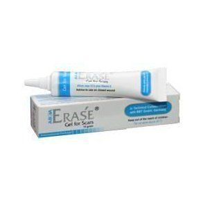 Allium cepa 12% plus Vitamin E - ERASE GEL - KELOID ACNE SURGERY SCARS REMOVER by Abca. $18.99. Allium cepa 12% plus Vitamin E - ERASE GEL - KELOID ACNE SURGERY SCARS REMOVER. Product name: Erase gel for scar 5g General information: Erase Gel for Scars Us http://www.scarcrem.com/does-scar-tissue-hurt/