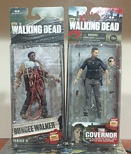 AMC Walking Dead Action Figure 2 Pack - The Governor & A Bungee Walker #McFarlaneToys