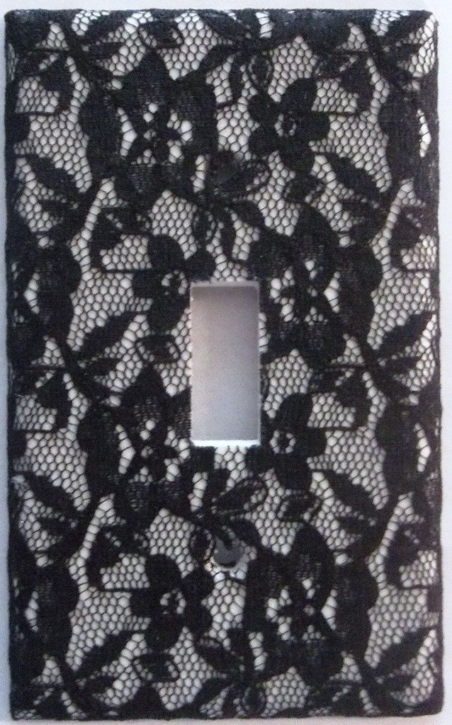 169 best light switch covers images on pinterest light switch black floral lace light switch cover plate girls bedroom bathroom wall decor single toggle fabric by sciox Gallery