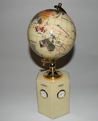 The 44 best gemstone globes images on pinterest globes cards and maps gemstone globe with world time clocks gumiabroncs Image collections