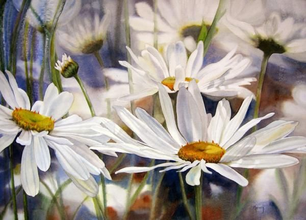 Watercolour Flower Paintings by Marney Ward