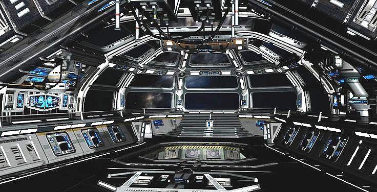 Spaceship bridge control room spaceships starships for Futuristic control room