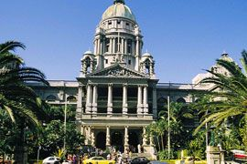 Durban City Hall, one of the many historic buildings in the city of Durban