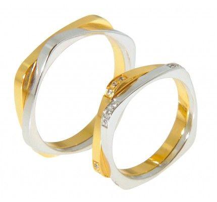 Βέρες #Bonise BV104AN #wedding_ring #whitegold #gold #red_gold #marriage #proposal #love #faith