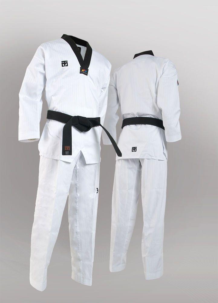 MOOTO Basic Season4 Dan Dobok Korean TaeKwonDo Uniform TKD Black Neck Uniforms