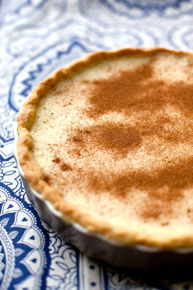 African Milk tart. We made this for my boys' My Father's World Classes. It was really good.