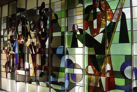 'Verdwenen' ramen van Don Bosco te zien in Hal 25 Alkmaar