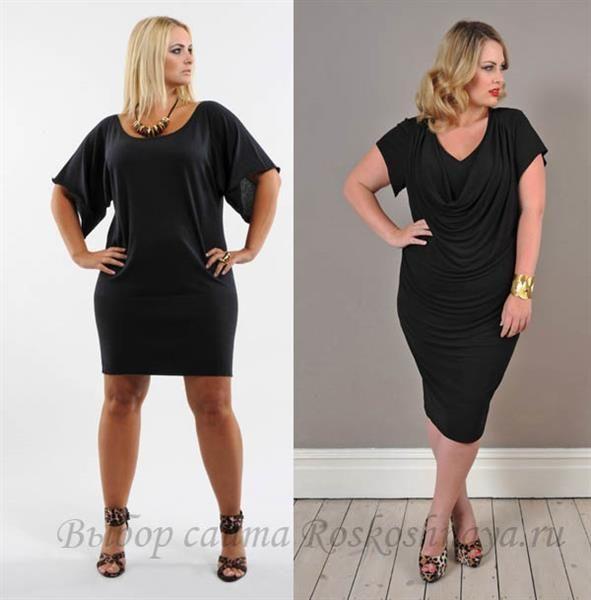 Маленькое французское черное платье для полных дам