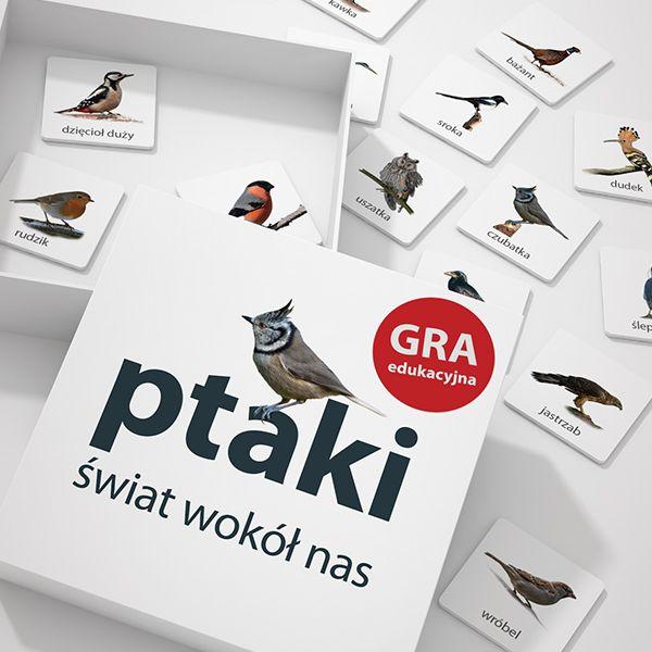 Wilga, zięba, bocian, szpak oraz każdy inny ptak- do nauki i zabawy  gra memo Ptaki dostępna w sklepwkropki.pl