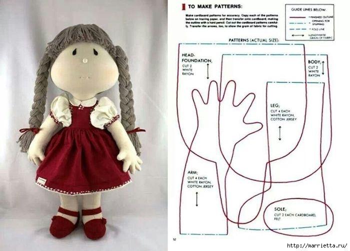 может тряпичные куклы своими руками мастер-класс шаблоны выкройки цифровой оригинал
