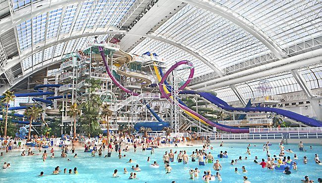 Water park of america expansion at mall of america - Swimming pools with waterslides in london ...