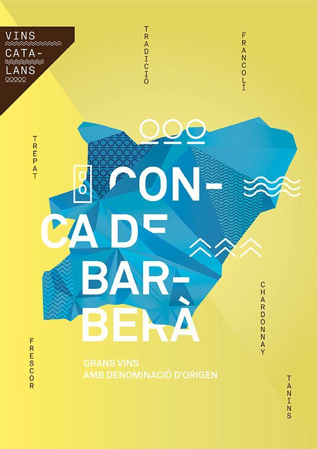 タイポグラフィーだけのポスター。ワインの宣伝らしいけど、すごいな。勇気あるな。(via Catalan wines)