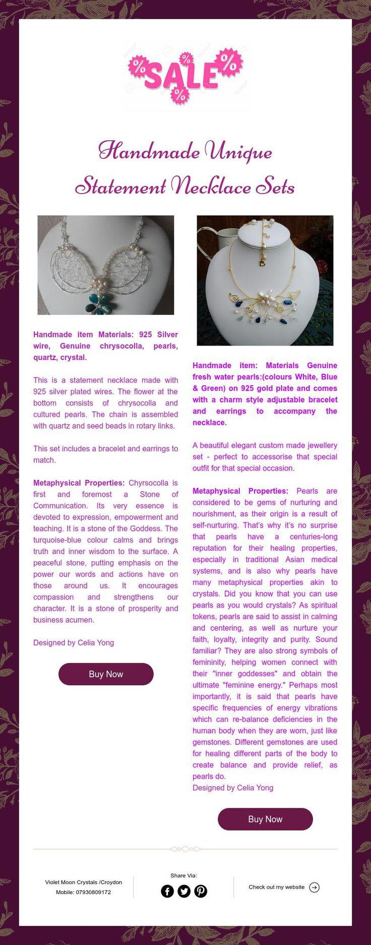 Handmade Unique  Statement Necklace Sets